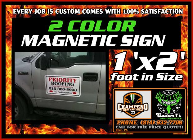 Custom Magnetic Signs - Bulk Magnetic Signs - Two Color Magnetic Signs - Cheap Magnetic Signs - Reasonable Price Magnetic Signs
