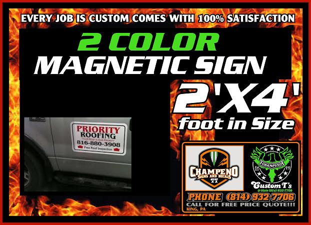 Custom Magnetic Signs - Bulk Magnetic Signs - Large Magnetic Signs -