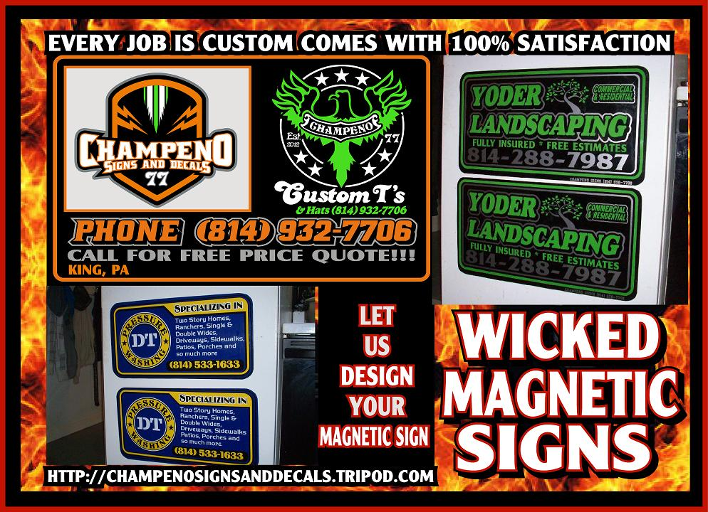 Custom Magnetic Signs - Magnetic Signs in Bulk - Bulk Magnetic Signs - Creative Magnetic Sign