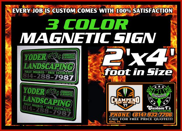 Custom Magnetic Signs - Bulk Magnetic Signs - Cheap Magnetic Signs -